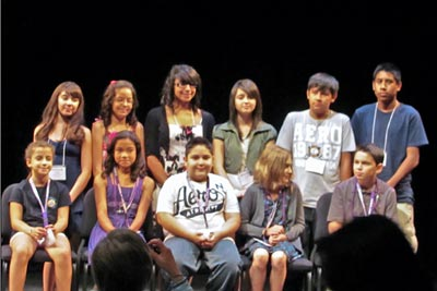 A photo of the contestants in the 2011 National Spanish Spelling Bee.