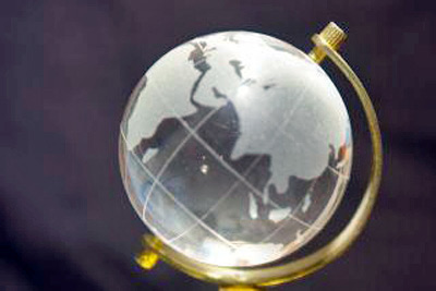 An image of a glass globe.