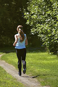 A photo of female jogger.